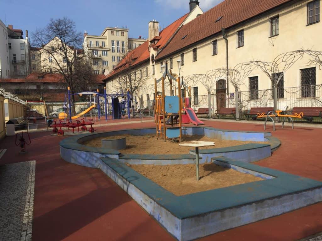 Dětské hřiště v centru Prahy