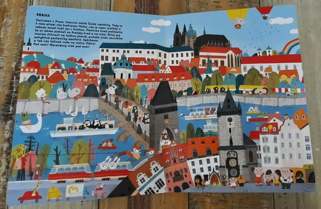 Dětské knihy o Praze: leporelo o Praze Pojďme objevovat Česko