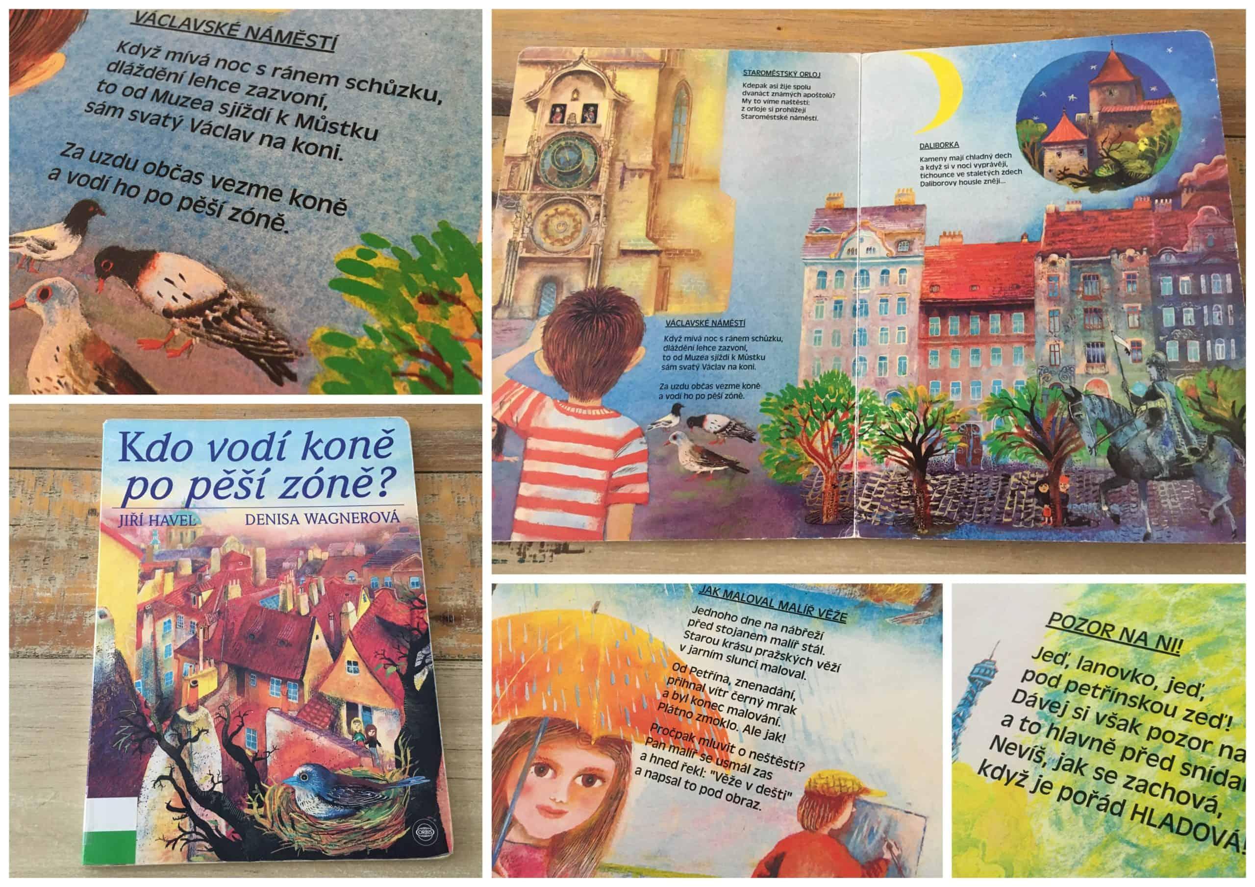 Dětská kniha o Praze: Leporelo Kdo vodí koně po pěší zóně?