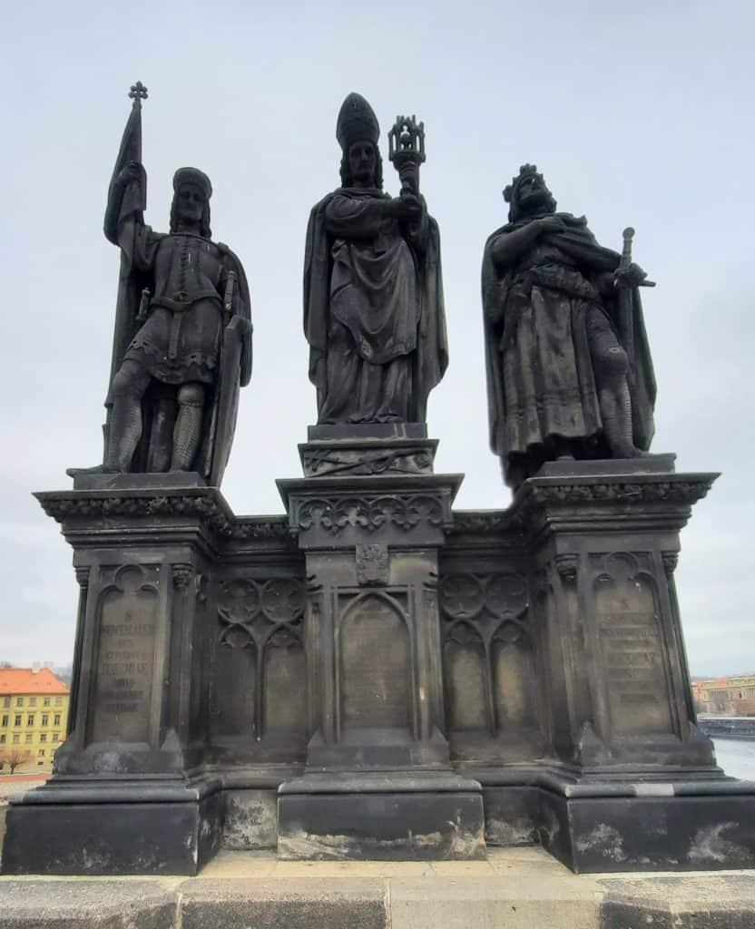 Karlův most s dětmi: Svatý Václav na Karlově mostě