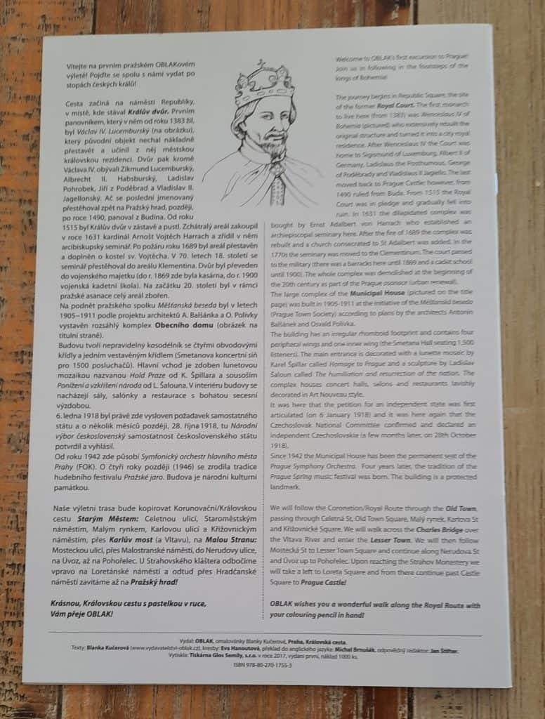 Kam s dětmi v Praze: Omalovánka o Praze: Královská cesta