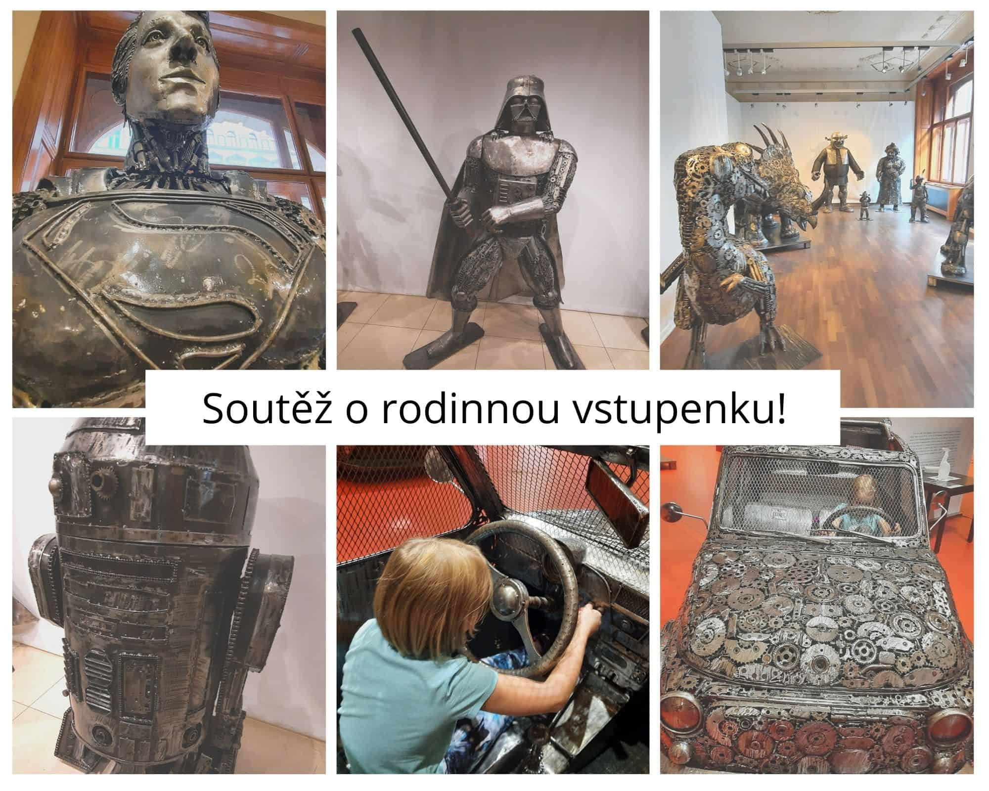Kam s dětmi v Praze: Galerie ocelových figurín